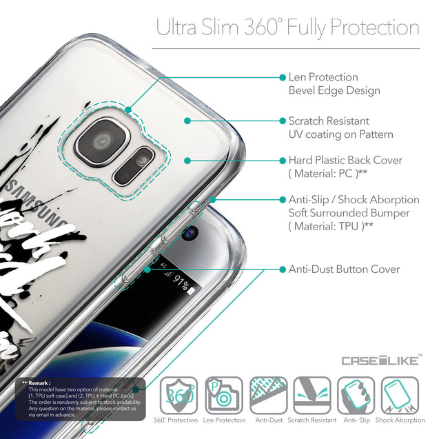 Details in English - CASEiLIKE Samsung Galaxy S7 Edge back cover Quote 2414