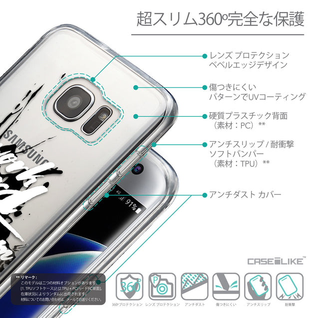 Details in Japanese - CASEiLIKE Samsung Galaxy S7 Edge back cover Quote 2414