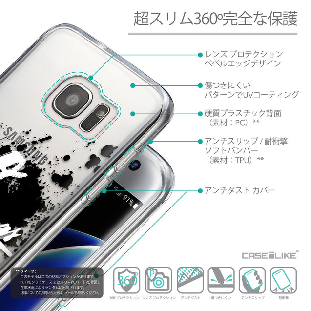 Details in Japanese - CASEiLIKE Samsung Galaxy S7 Edge back cover Quote 2415