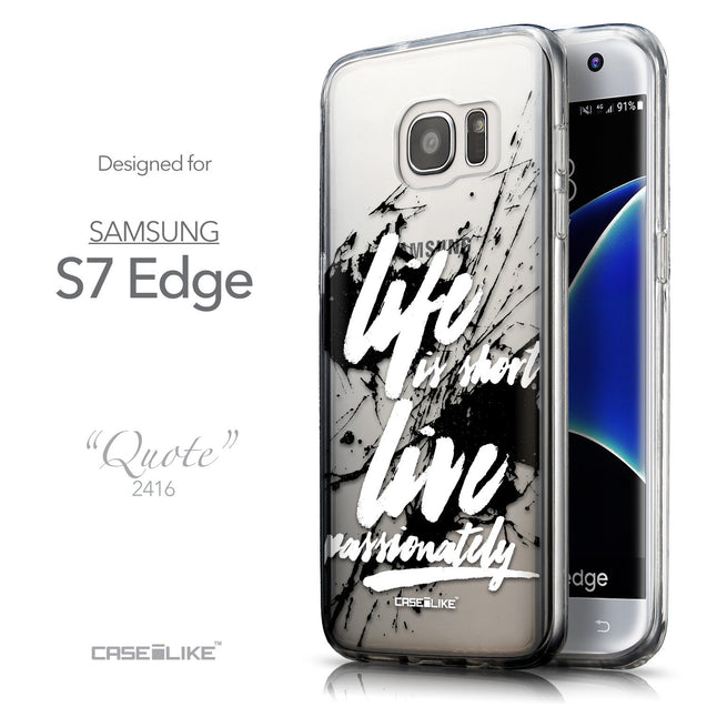 Front & Side View - CASEiLIKE Samsung Galaxy S7 Edge back cover Quote 2416