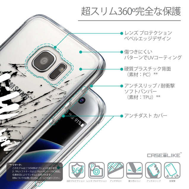 Details in Japanese - CASEiLIKE Samsung Galaxy S7 Edge back cover Quote 2416