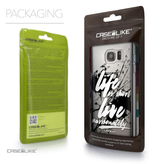 Packaging - CASEiLIKE Samsung Galaxy S7 Edge back cover Quote 2416