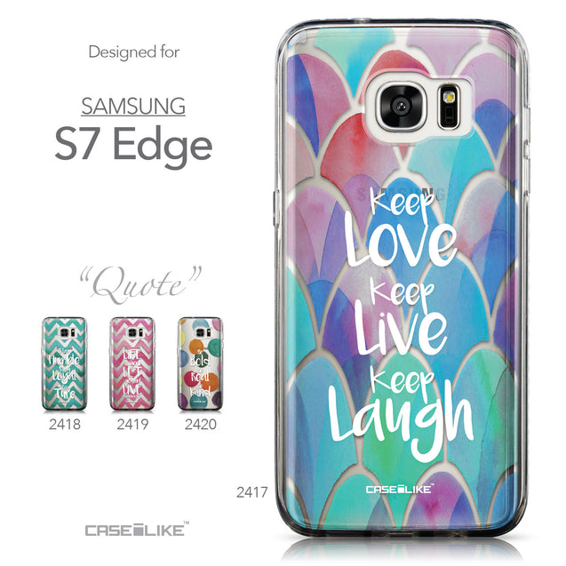 Collection - CASEiLIKE Samsung Galaxy S7 Edge back cover Quote 2417