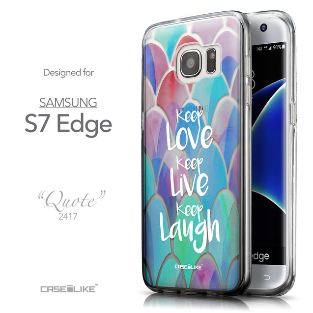 Front & Side View - CASEiLIKE Samsung Galaxy S7 Edge back cover Quote 2417
