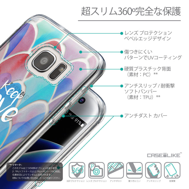 Details in Japanese - CASEiLIKE Samsung Galaxy S7 Edge back cover Quote 2417