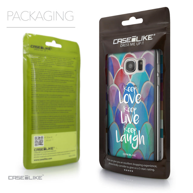 Packaging - CASEiLIKE Samsung Galaxy S7 Edge back cover Quote 2417