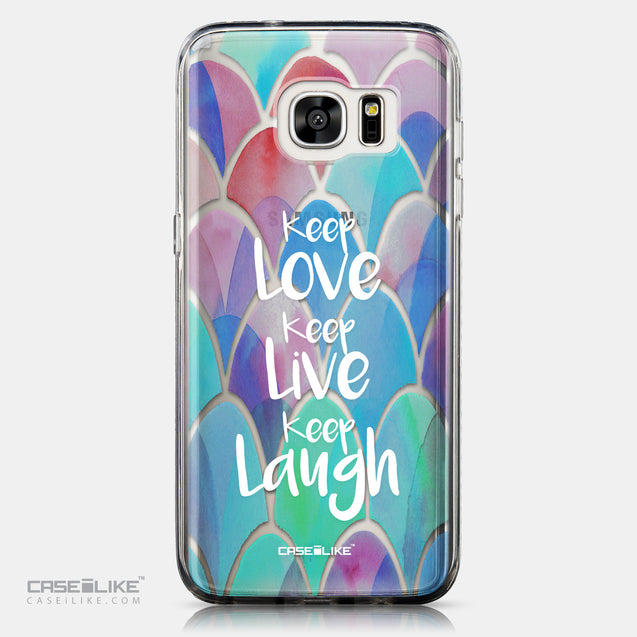 CASEiLIKE Samsung Galaxy S7 Edge back cover Quote 2417