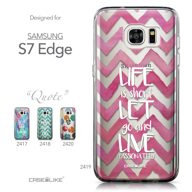 Collection - CASEiLIKE Samsung Galaxy S7 Edge back cover Quote 2419