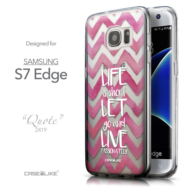 Front & Side View - CASEiLIKE Samsung Galaxy S7 Edge back cover Quote 2419