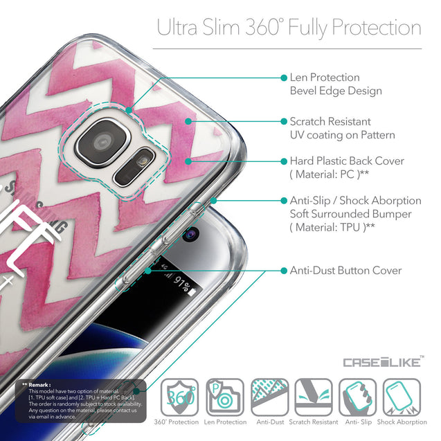 Details in English - CASEiLIKE Samsung Galaxy S7 Edge back cover Quote 2419