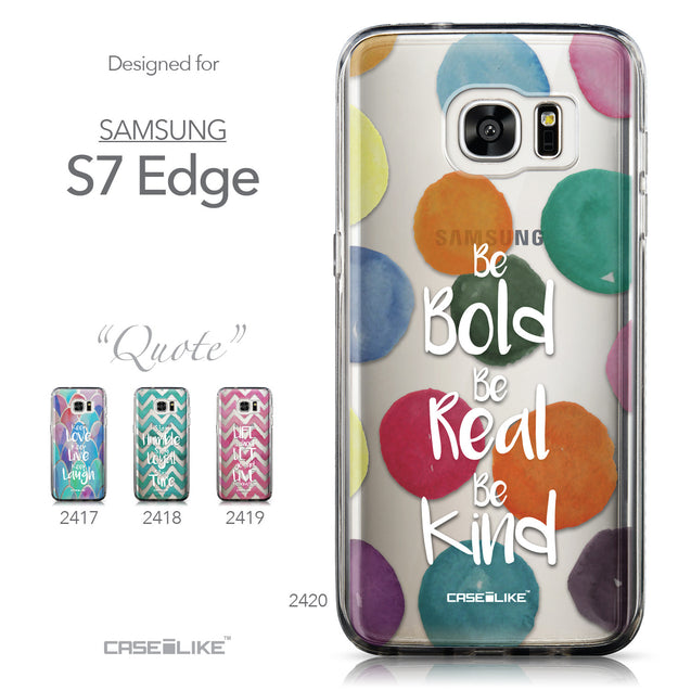 Collection - CASEiLIKE Samsung Galaxy S7 Edge back cover Quote 2420