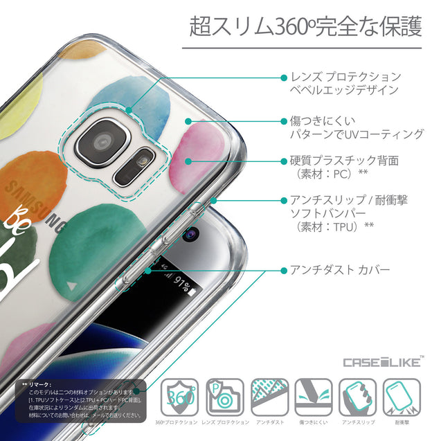 Details in Japanese - CASEiLIKE Samsung Galaxy S7 Edge back cover Quote 2420