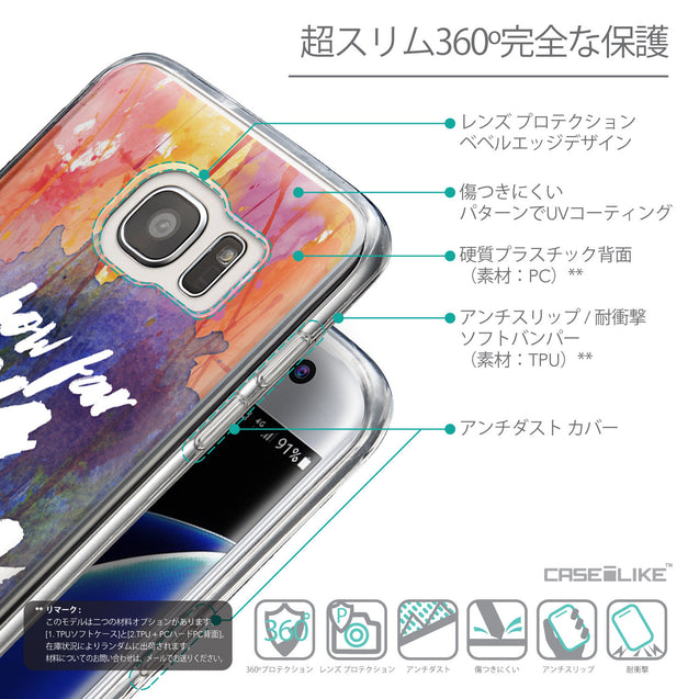 Details in Japanese - CASEiLIKE Samsung Galaxy S7 Edge back cover Quote 2421