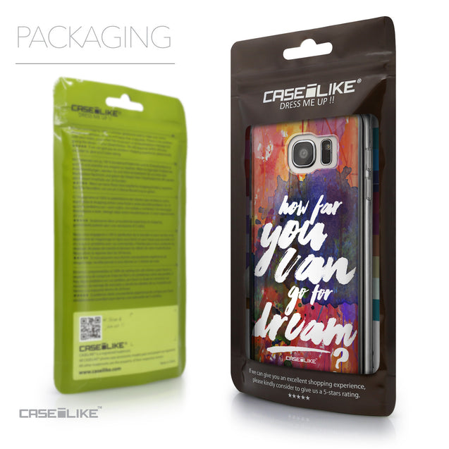 Packaging - CASEiLIKE Samsung Galaxy S7 Edge back cover Quote 2421