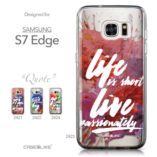 Collection - CASEiLIKE Samsung Galaxy S7 Edge back cover Quote 2423