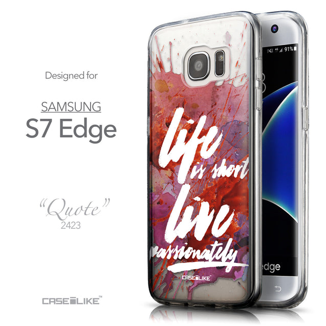 Front & Side View - CASEiLIKE Samsung Galaxy S7 Edge back cover Quote 2423