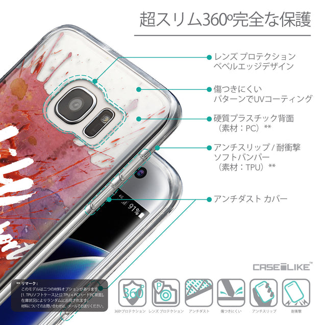 Details in Japanese - CASEiLIKE Samsung Galaxy S7 Edge back cover Quote 2423