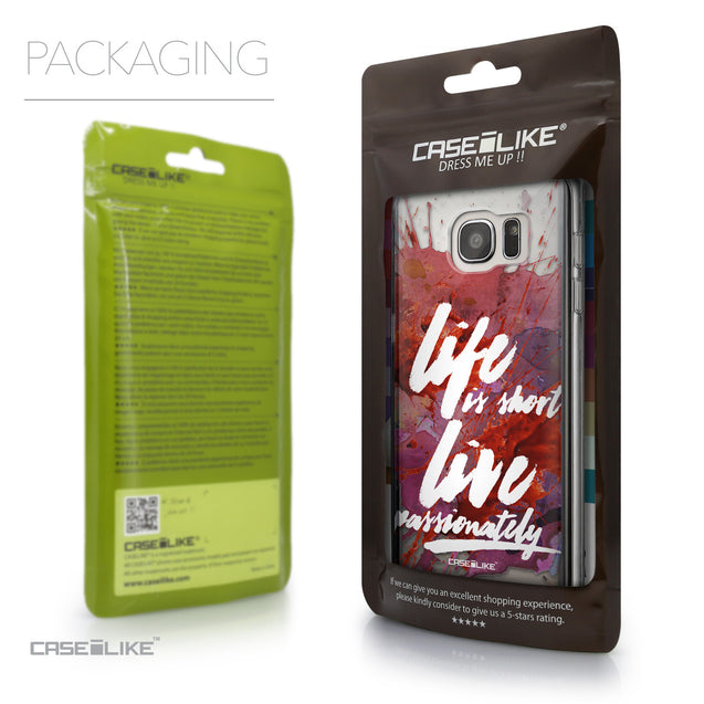Packaging - CASEiLIKE Samsung Galaxy S7 Edge back cover Quote 2423