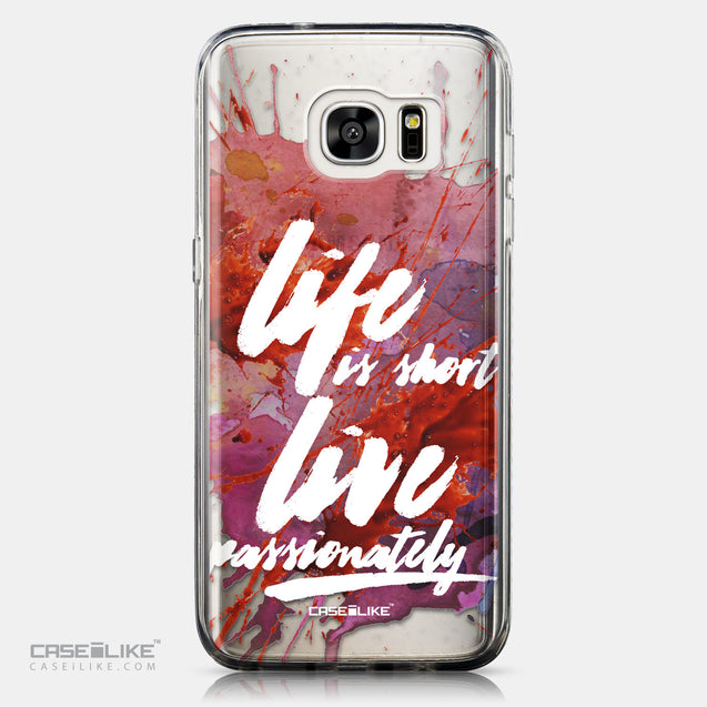 CASEiLIKE Samsung Galaxy S7 Edge back cover Quote 2423