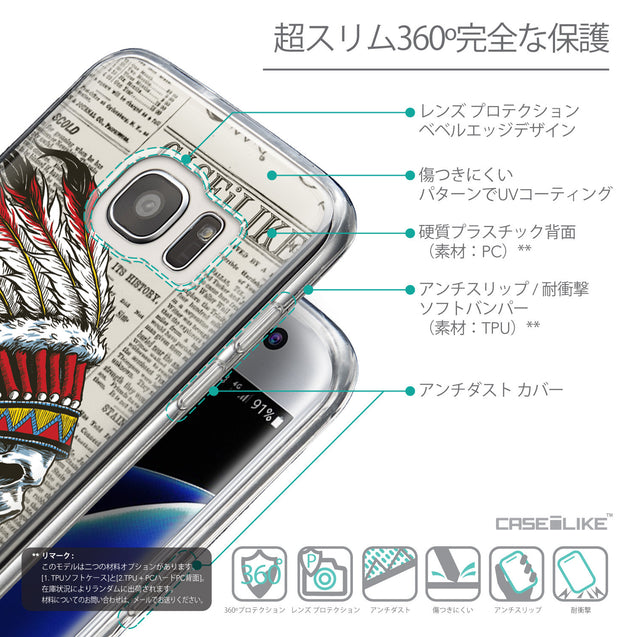 Details in Japanese - CASEiLIKE Samsung Galaxy S7 Edge back cover Art of Skull 2522