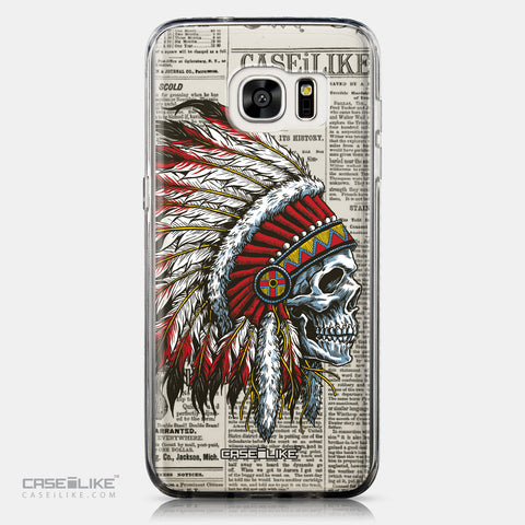 CASEiLIKE Samsung Galaxy S7 Edge back cover Art of Skull 2522