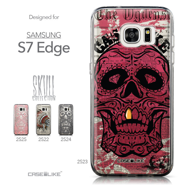 Collection - CASEiLIKE Samsung Galaxy S7 Edge back cover Art of Skull 2523