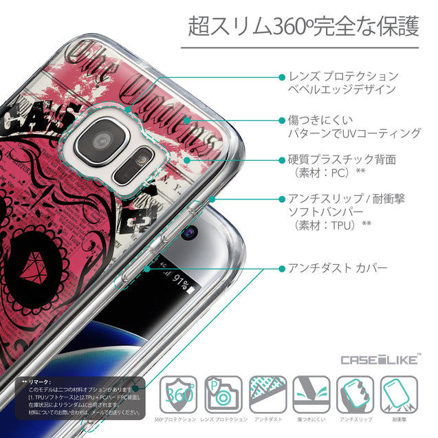 Details in Japanese - CASEiLIKE Samsung Galaxy S7 Edge back cover Art of Skull 2523
