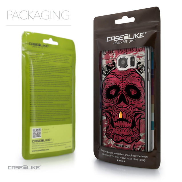 Packaging - CASEiLIKE Samsung Galaxy S7 Edge back cover Art of Skull 2523