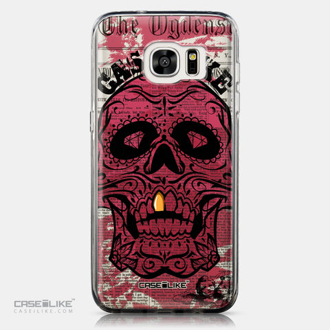 CASEiLIKE Samsung Galaxy S7 Edge back cover Art of Skull 2523