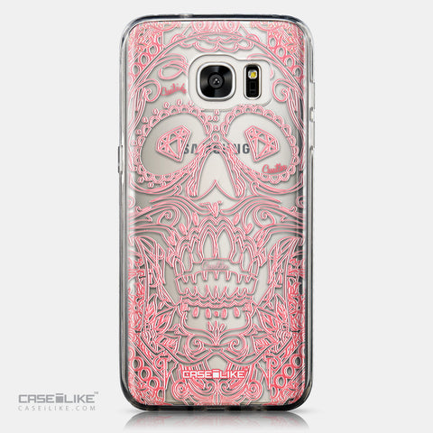 CASEiLIKE Samsung Galaxy S7 Edge back cover Art of Skull 2525