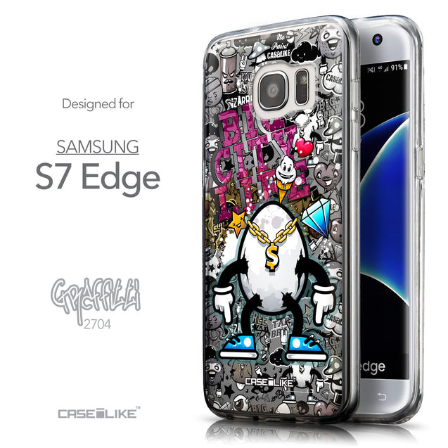 Front & Side View - CASEiLIKE Samsung Galaxy S7 Edge back cover Graffiti 2704