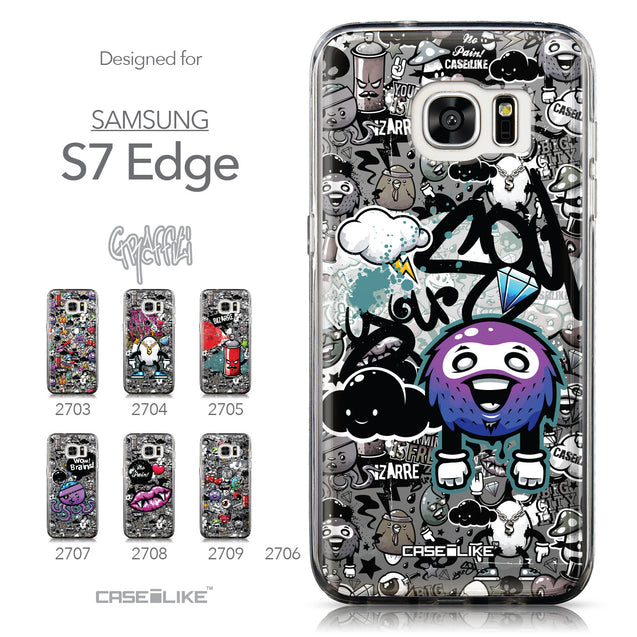 Collection - CASEiLIKE Samsung Galaxy S7 Edge back cover Graffiti 2706
