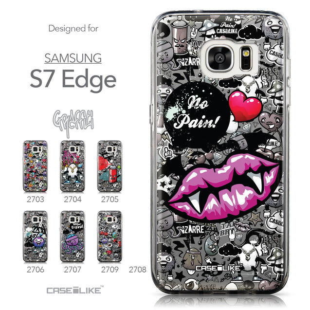 Collection - CASEiLIKE Samsung Galaxy S7 Edge back cover Graffiti 2708