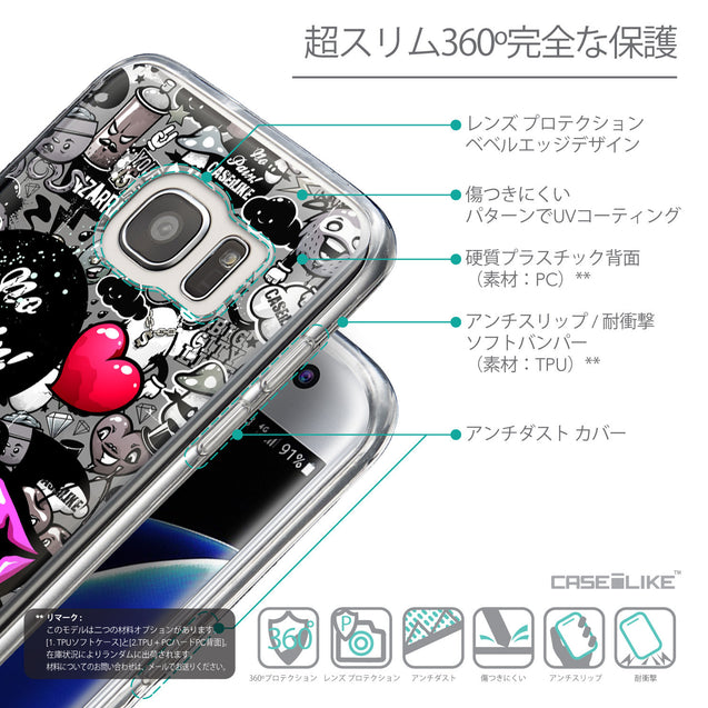Details in Japanese - CASEiLIKE Samsung Galaxy S7 Edge back cover Graffiti 2708