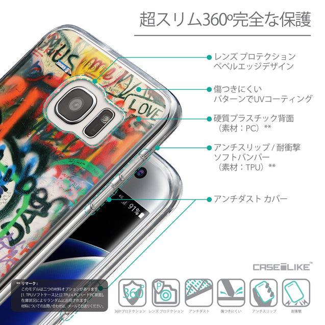 Details in Japanese - CASEiLIKE Samsung Galaxy S7 Edge back cover Graffiti 2721