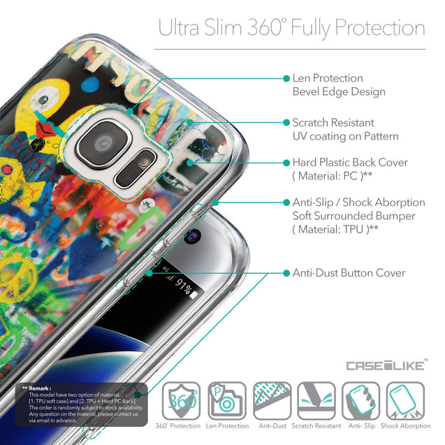 Details in English - CASEiLIKE Samsung Galaxy S7 Edge back cover Graffiti 2723