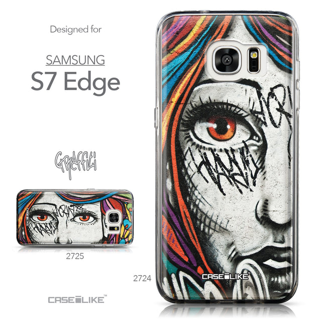 Collection - CASEiLIKE Samsung Galaxy S7 Edge back cover Graffiti Girl 2724