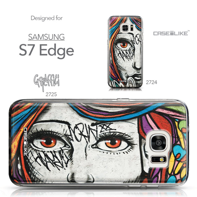 Collection - CASEiLIKE Samsung Galaxy S7 Edge back cover Graffiti Girl 2725