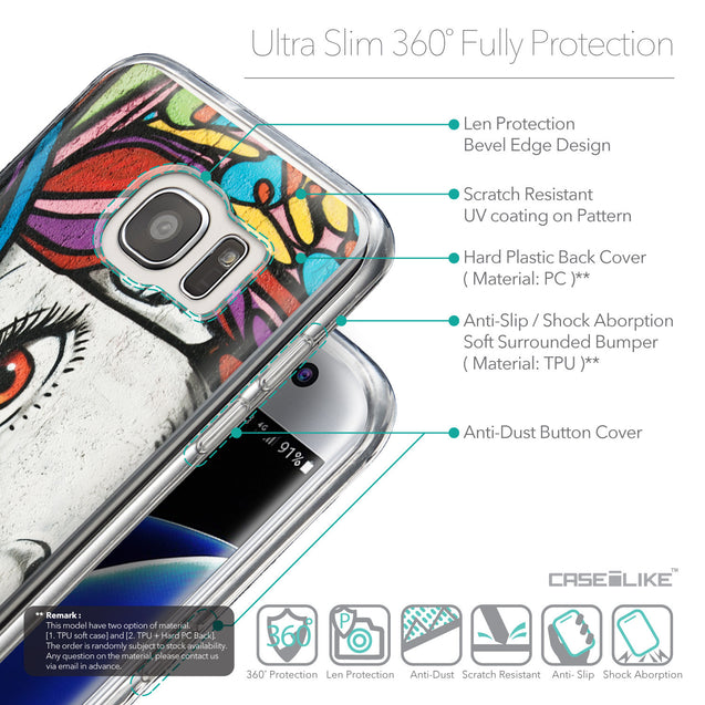 Details in English - CASEiLIKE Samsung Galaxy S7 Edge back cover Graffiti Girl 2725