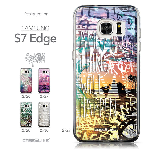 Collection - CASEiLIKE Samsung Galaxy S7 Edge back cover Graffiti 2729