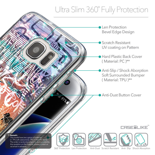 Details in English - CASEiLIKE Samsung Galaxy S7 Edge back cover Graffiti 2729