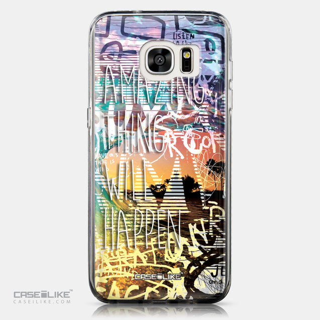 CASEiLIKE Samsung Galaxy S7 Edge back cover Graffiti 2729