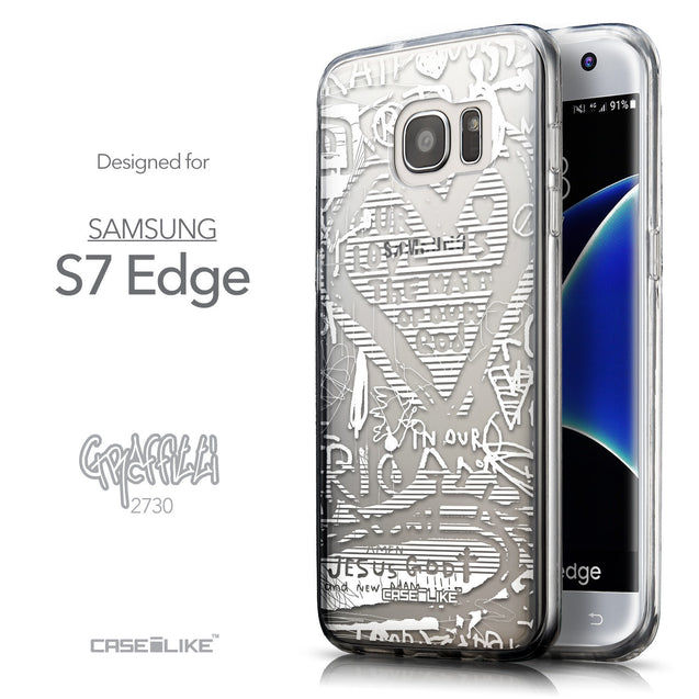 Front & Side View - CASEiLIKE Samsung Galaxy S7 Edge back cover Graffiti 2730