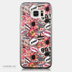 CASEiLIKE Samsung Galaxy S7 Edge back cover Comic Captions Pink 2912