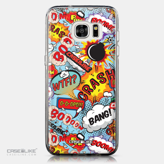 CASEiLIKE Samsung Galaxy S7 Edge back cover Comic Captions Blue 2913