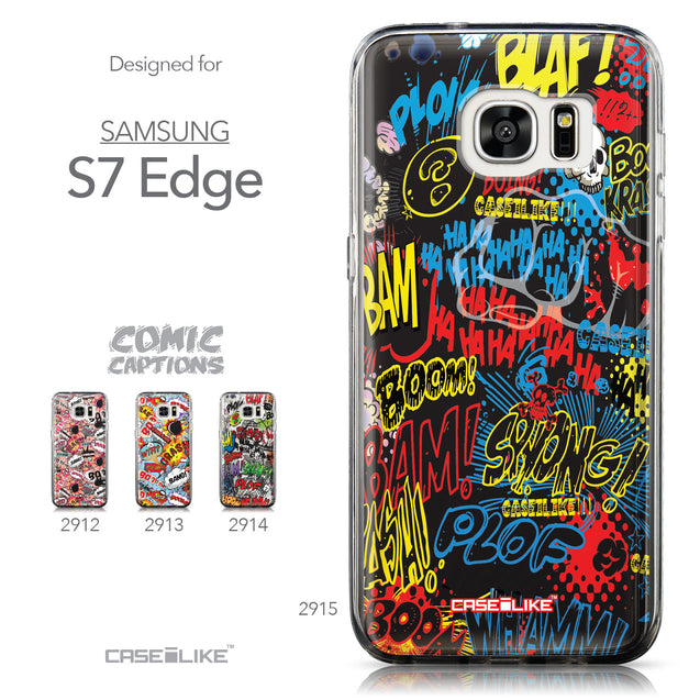 Collection - CASEiLIKE Samsung Galaxy S7 Edge back cover Comic Captions Black 2915