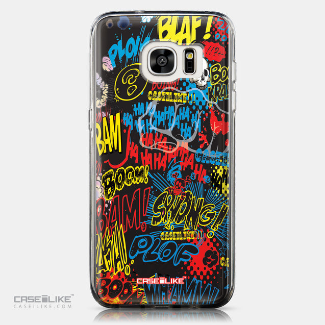 CASEiLIKE Samsung Galaxy S7 Edge back cover Comic Captions Black 2915