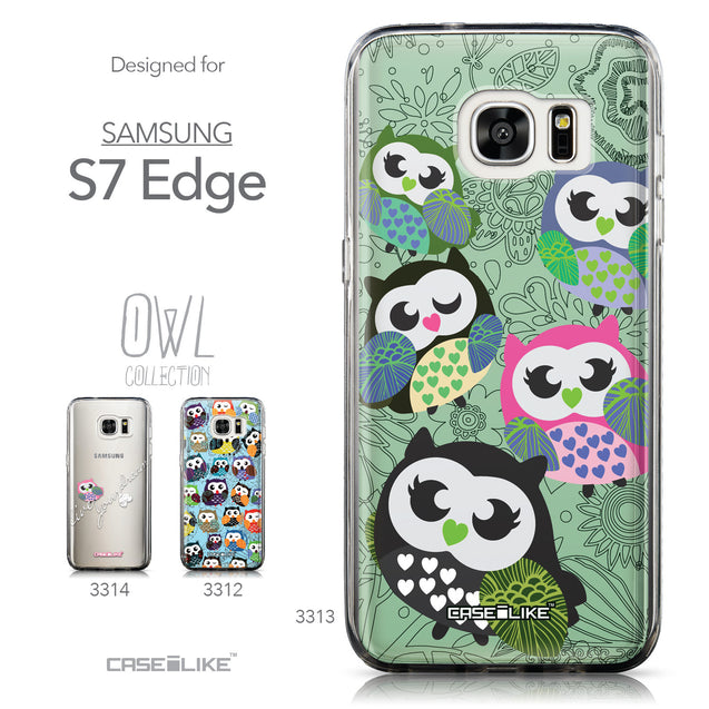 Collection - CASEiLIKE Samsung Galaxy S7 Edge back cover Owl Graphic Design 3313