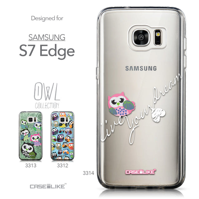 Collection - CASEiLIKE Samsung Galaxy S7 Edge back cover Owl Graphic Design 3314