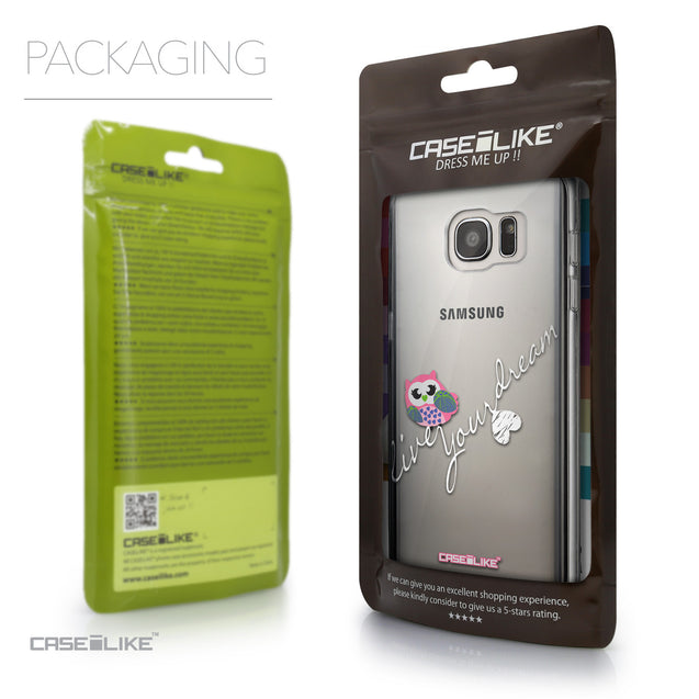 Packaging - CASEiLIKE Samsung Galaxy S7 Edge back cover Owl Graphic Design 3314